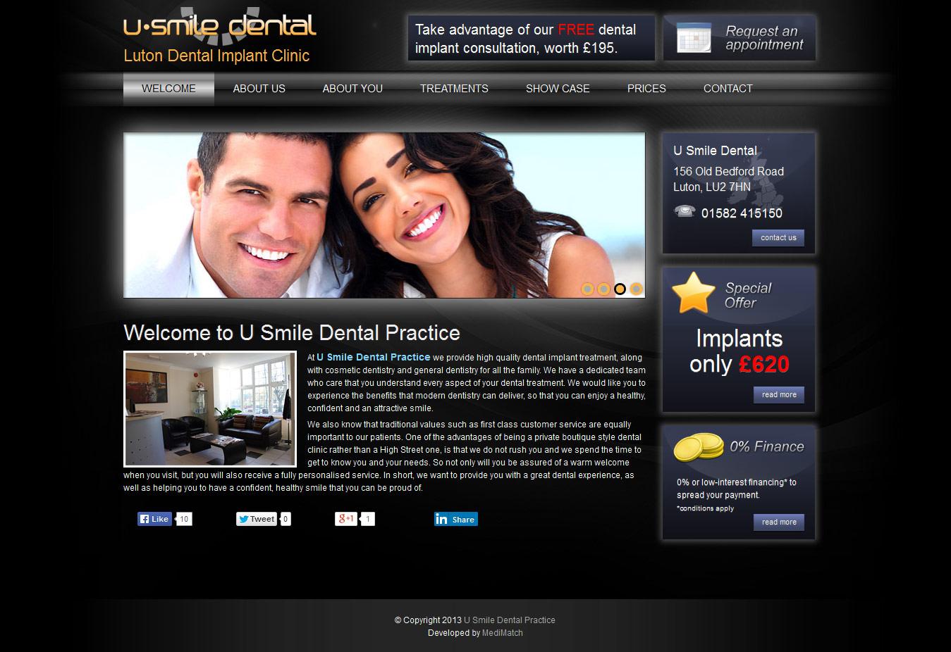 dental-web-design-usmile